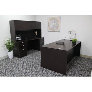 Contemporary 5 Piece Rectangle Desk Office Suite By Symple Stuff