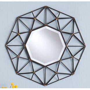 Wrought Studio Waldron Round Metal Wall Mirror