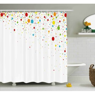 Best Choices Kirk Spots Like Confetti Shower Curtain By Harriet Bee