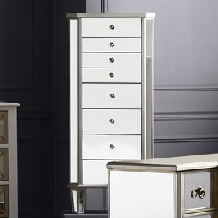 Hampstead Jewelry Armoire With Flip Top Mirror