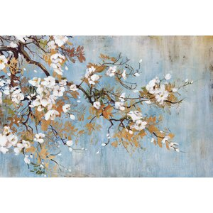 Sakura by Bridges Painting Print on Wrapped Canvas by Portfolio Canvas Decor