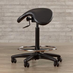 Big Save Bouley Height Adjustable Backless Stool with Saddle Seat by Wrought Studio