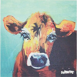 Bess Cow Graphic Art on Canvas by Creative Co-Op