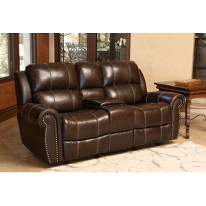 Deloatch Leather Reclining Sofa by Darby Home Co