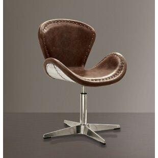 Houston Retro Aluminum Swivel Side Chair