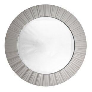 Northlight Seasonal Simply Elegant Fluted Frame Decorative Round Wall Mirror