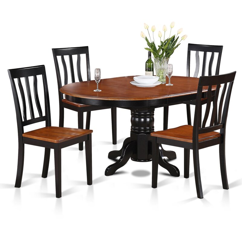 Easton 5 piece dining set reviews joss main for Dining room tables easton