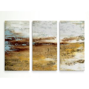 'Golden Twilight' Acrylic Painting Print Multi-Piece Image on Wrapped Canvas by Williston Forge