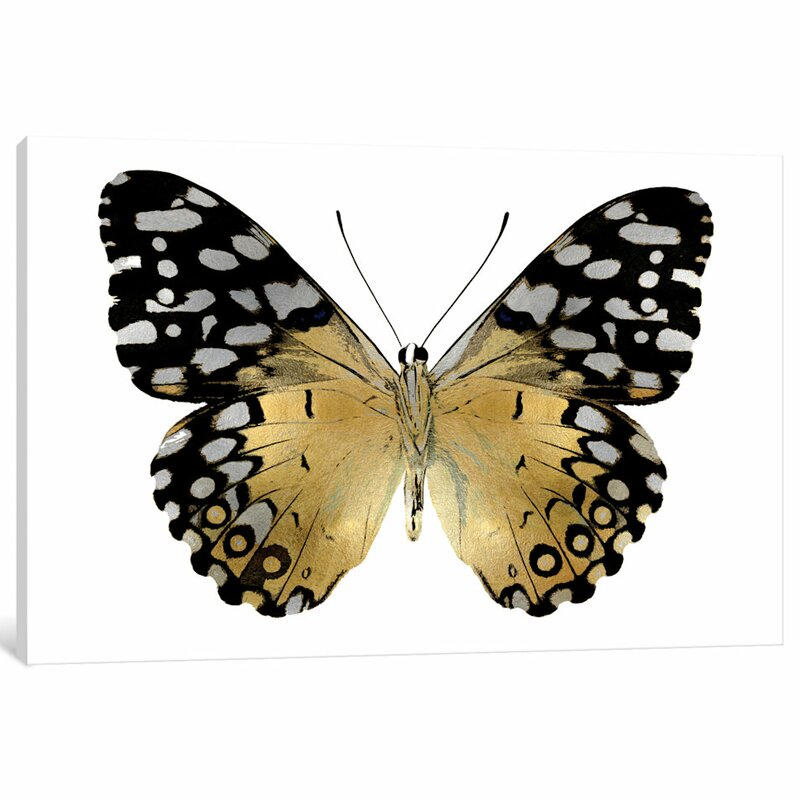 'Golden Butterfly IV' Painting Print on Canvas