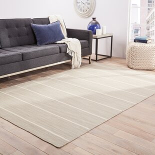 Templeton Handwoven Flatweave Wool Ivory Area Rug by The Twillery Co.