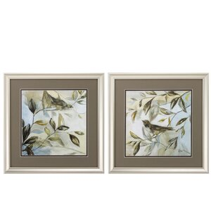 'Spring Fling' 2 Piece Framed Painting Print Set by Propac Images