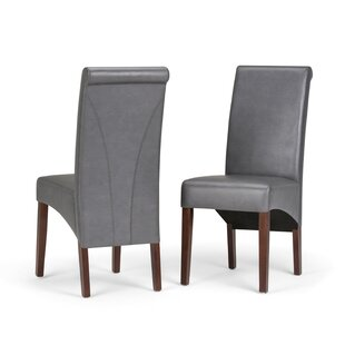 Affordable Price Avalon Deluxe Upholstered Dining Chair (Set of 2) By Simpli Home