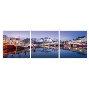 Harbour at Dusk 3 Piece Photographic Print Set by Furinno