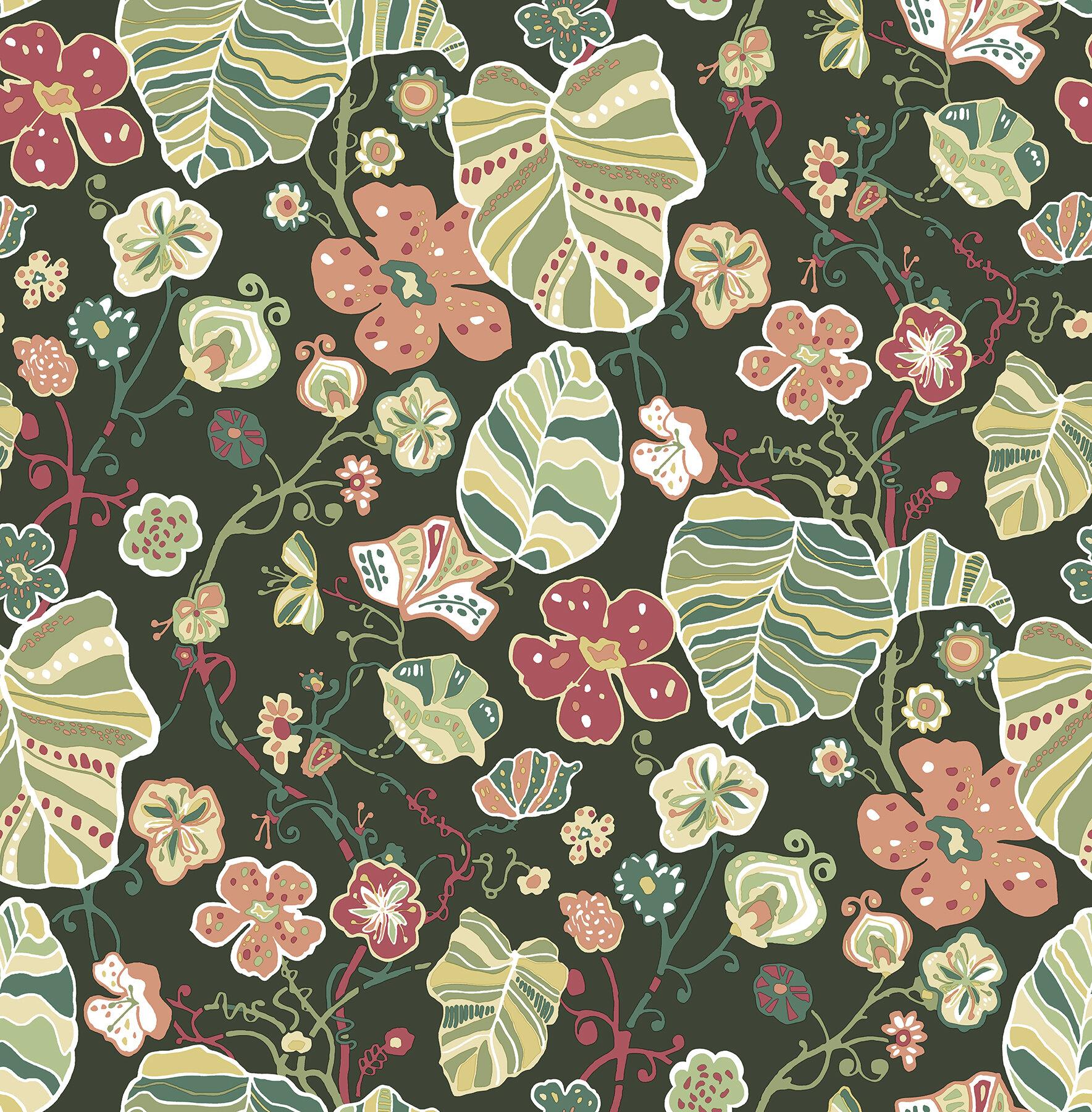 August Grove Zetta 33 L X 20 5 W Wallpaper Roll Wayfair