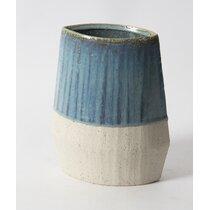 Flat Ceramic Shell Vase