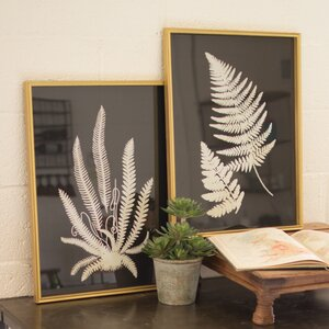 Framed Inverted Fern Silhouette Prints (Set of 2) by Birch Lane™