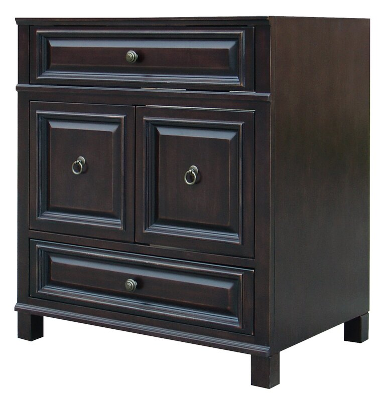 "Bathroom Vanity Jacksonville sunny wood barton hill 30"" bathroom vanity base & reviews 