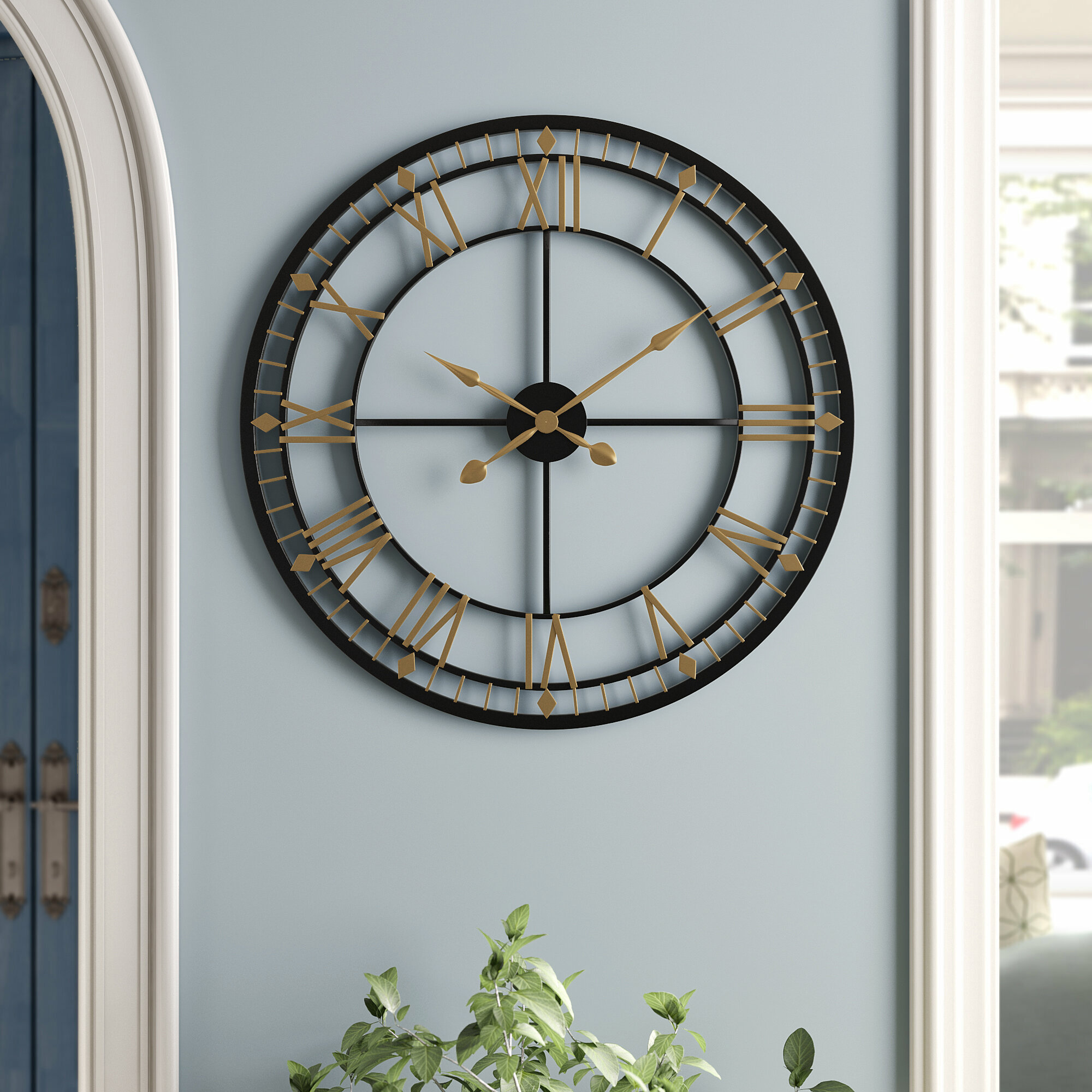 Three Posts Beaver Creek Oversized 80cm Wall Clock Reviews Wayfair Co Uk