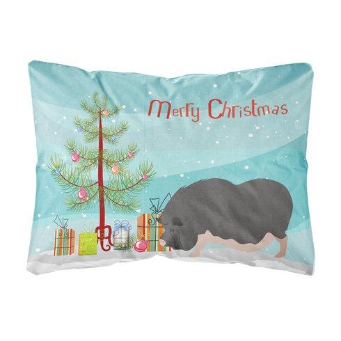maiden vietnamese pot bellied pig christmas indooroutdoor throw pillow - Christmas Elephant Outdoor Decoration