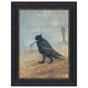 Krahe The Raven by Rudi Hurzlmeier Framed Painting Print by Design Toscano