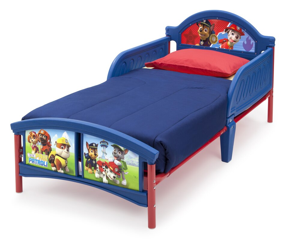 deltachildren bett paw patrol mit 2 gel ndern 77 cm x 145 cm bewertungen. Black Bedroom Furniture Sets. Home Design Ideas