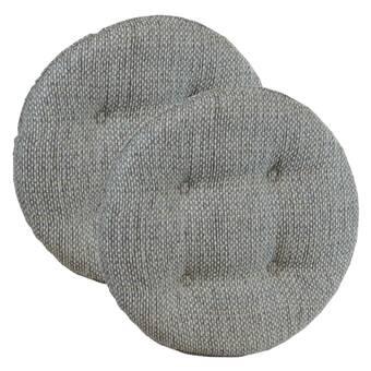 Charlton Home Barbay Baltic Squared Barstool Cushion Reviews Wayfair