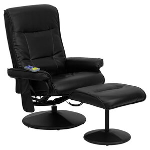 Heated Reclining Massage Chair & Ottom..