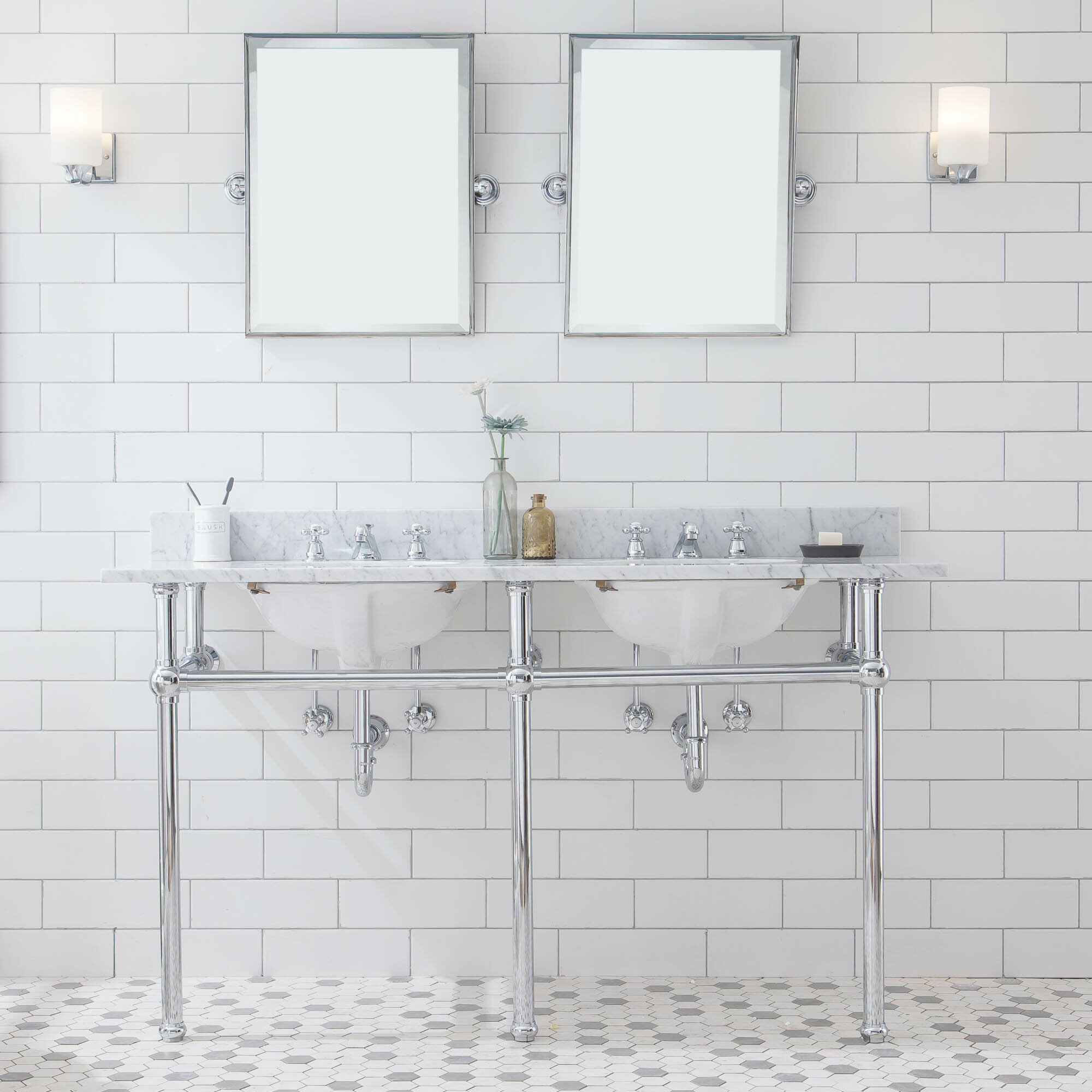 Double Sink Bathroom Vanity Base Only