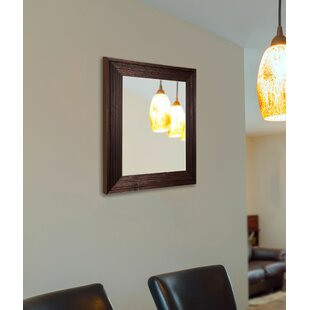 Darby Home Co Handcrafted Dark Brown Wall Mirror