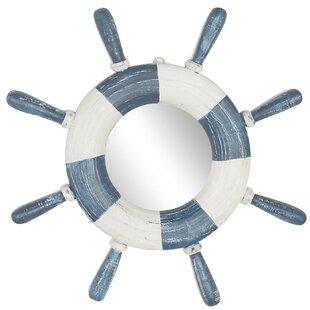 Breakwater Bay Foxton Ship Wheel Accent Mirror