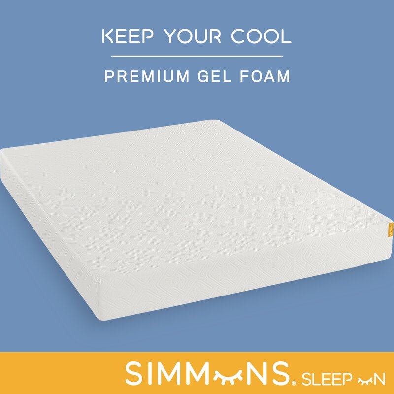 Simmons 8 Medium Gel Memory Foam Mattress Reviews Wayfair
