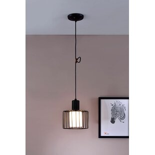 Genial Ivonne Wire Cage 1 Light Drum Pendant
