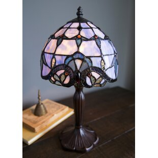 Stained glass table lamps wayfair tara stained glass 14 table lamp aloadofball Image collections