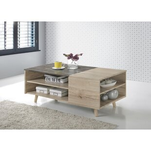 Lapidge Wooden Modern Coffee Table with Storage ByWrought Studio