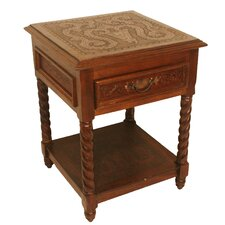 Solomon 1 Drawer Nightstand (Set of 2) by New World Trading