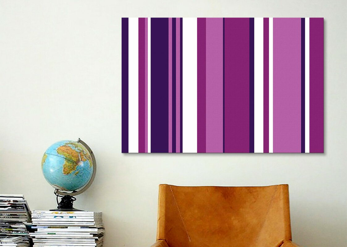 Ultra Vivid Violet Graphic Art on Wrapped Canvas