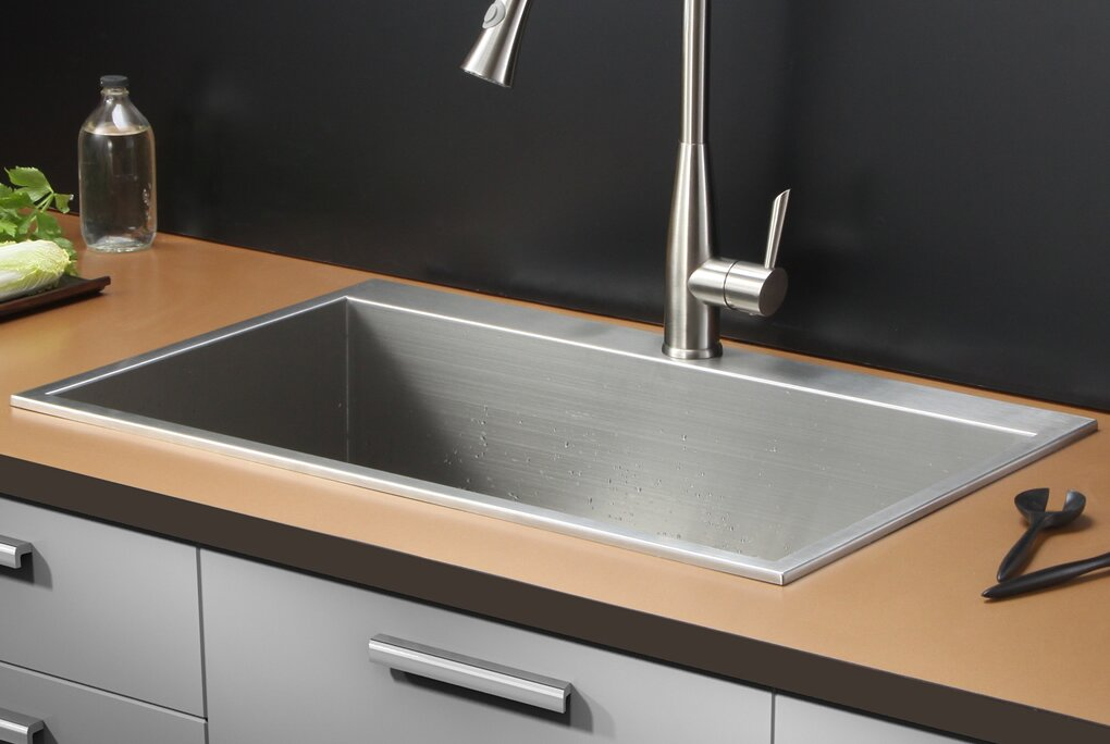 tirana 33   x 21   drop in single bowl kitchen sink ruvati tirana 33   x 21   drop in single bowl kitchen sink  u0026 reviews      rh   wayfair com