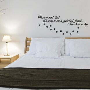 Beau Dogs Over Diamonds Wall Decal
