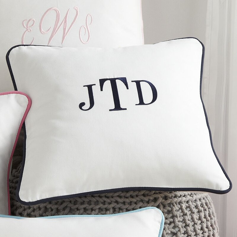 pillow monogrammed covers
