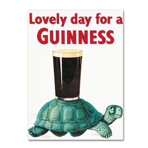 Lovely Day For A Guinness X by Guinness Brewery Vintage Advertisement on Wrapped Canvas by Trademark Fine Art