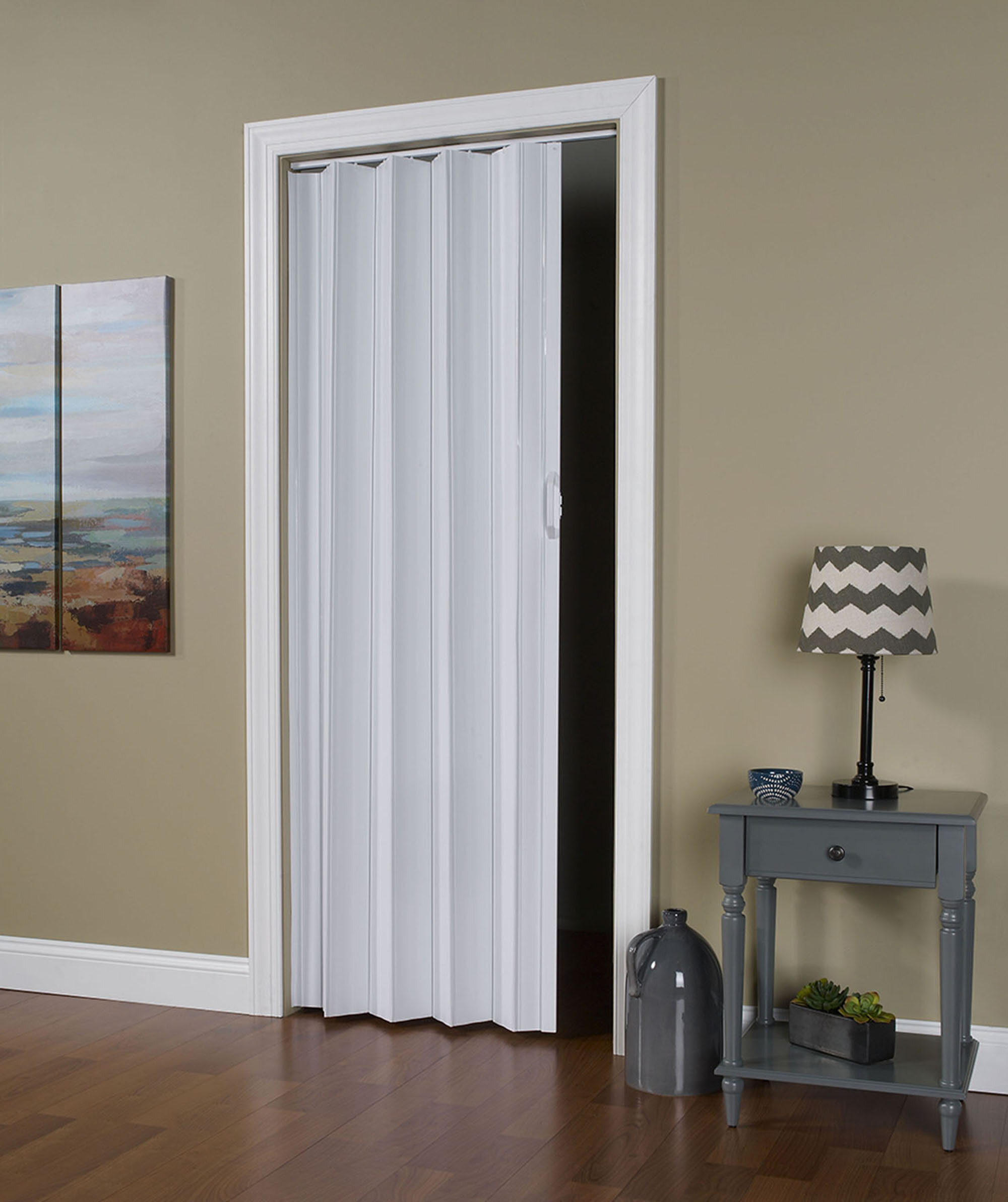 LTL Accordion Doors Homestyle Vinyl Accordion Interior Door u0026 Reviews | Wayfair & LTL Accordion Doors Homestyle Vinyl Accordion Interior Door ...