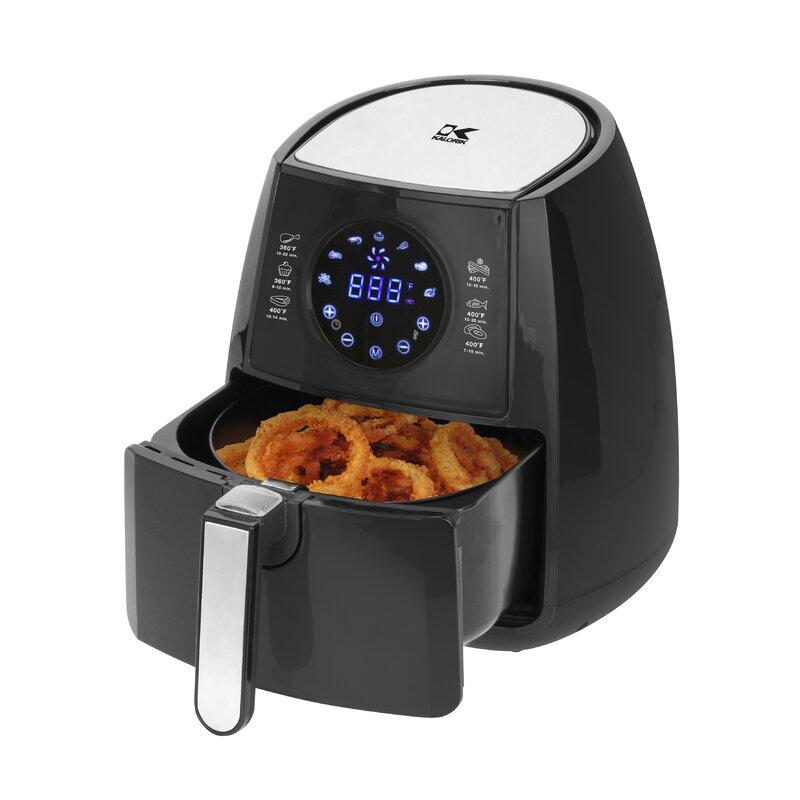 Kalorik 3 2 Quart Digital Air Fryer With Pie Baking Pan Wayfair Exclusive Amp Reviews Wayfair