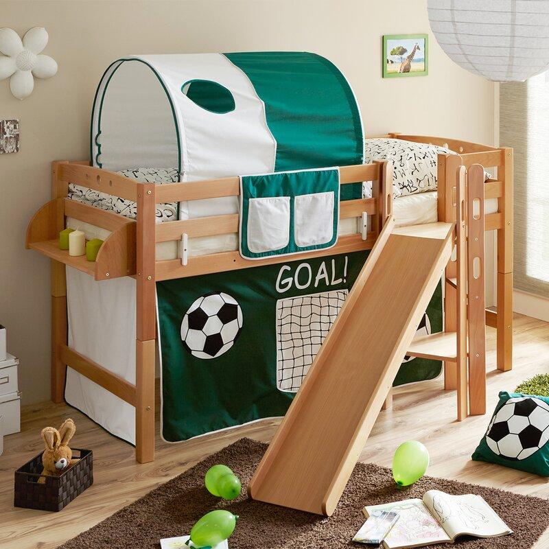 ticaa hochbett tino mit rutsche 90 x 200 cm bewertungen. Black Bedroom Furniture Sets. Home Design Ideas