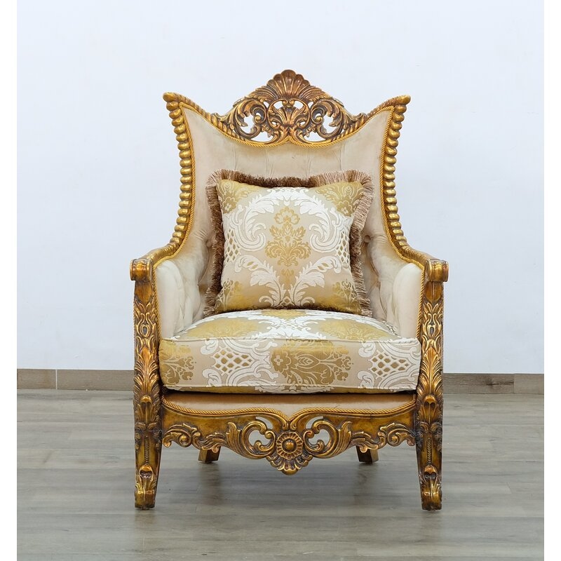 Europeanfurniture Maggiolini Ii Chair Gold Fabric Wayfair