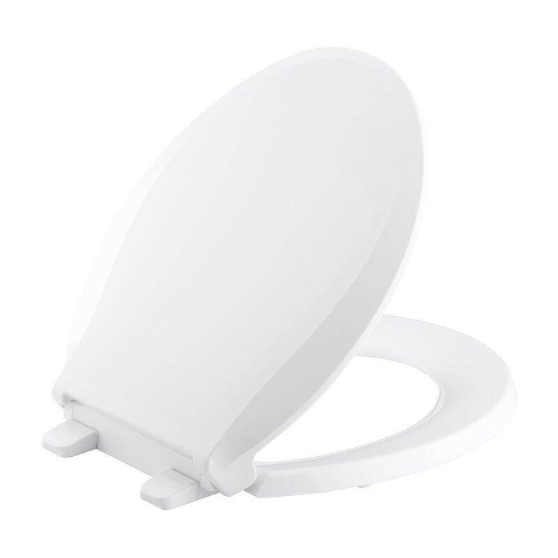15 inch round toilet seat. cachet quiet-close with grip-tight round-front toilet seat 15 inch round s