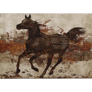 'Running Free II' by Conrad Knutsen Painting Print on Canvas by Wexford Home