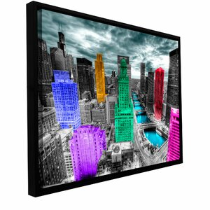 'Chicago' Framed Photographic Print on Wrapped Canvas by Zipcode Design
