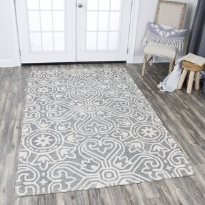 Nordmeyer Hand-Tufted Gray Wool Area Rug
