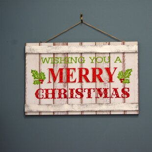 Wishing You A Merry Christmas Wood Sign Wall Décor