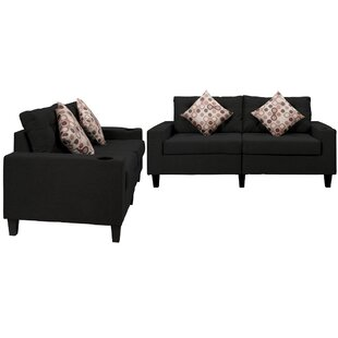 Evaney 2 Piece Living Room Set (Set of 3) by Latitude Run®